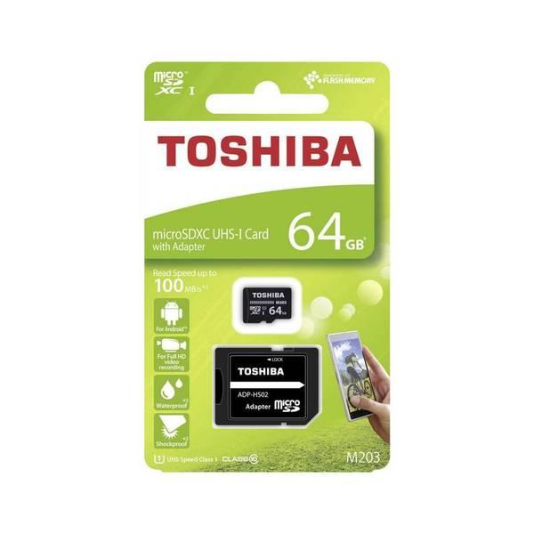Карта памет Toshiba M203 MICRO SD 64GB CLASS 10 UHS-I U1 100MB